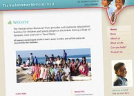 Content managed website for a charity improving child education in india