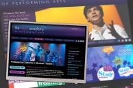 Website design for performing arts school