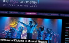 Website design for performing arts school