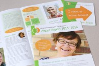 Lively annual report for clients and donors