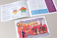 Illustrated booklet about debt and austerity