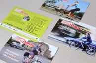 Logo design and postcards promoting cycling