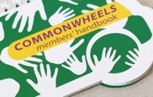 Die-cut spiralbound members' handbook for a car club