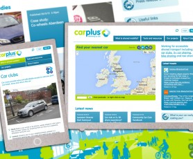 Website including 'find your nearest car' map and members-only pages